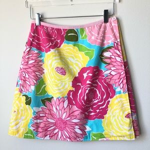 Lilly Pulitzer Vintage Floral Wrap Skirt